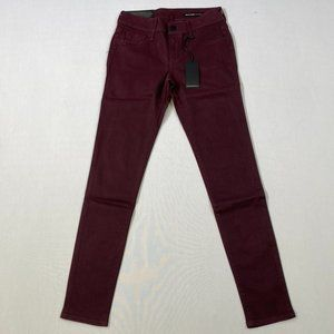 Black Orchid Mid Rise Skinny - Red Stripes